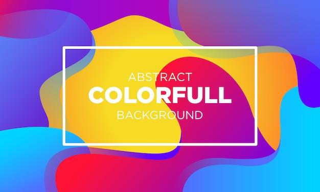 Абстракция colorfull gradient fluid bakground templates-03 Premium векторы