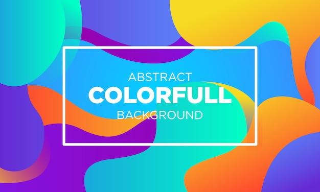 Абстрактные colorfull gradient fluid шаблоны bakground Premium векторы