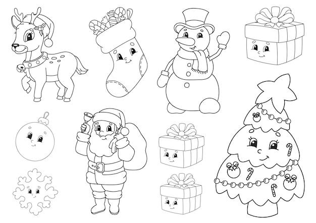 Книжка-раскраска для детской иллюстрации Premium векторы