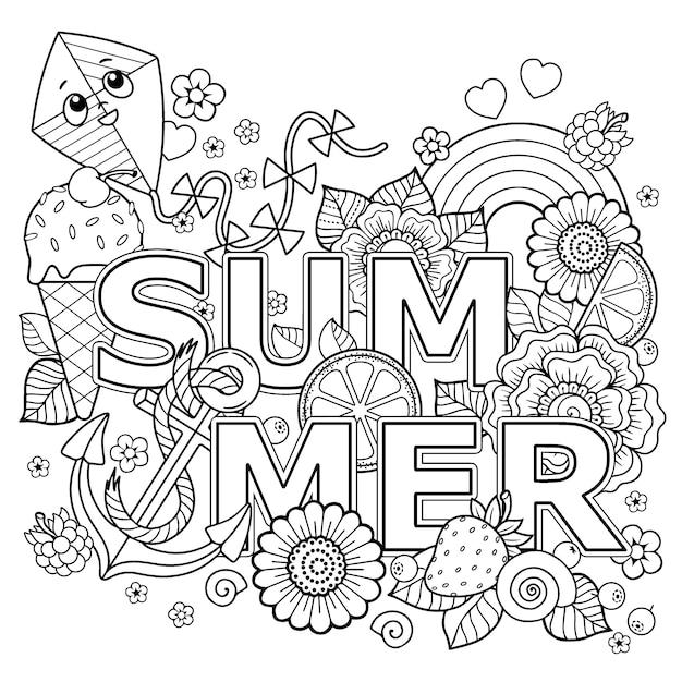 Coloring book illustration Premium Vector