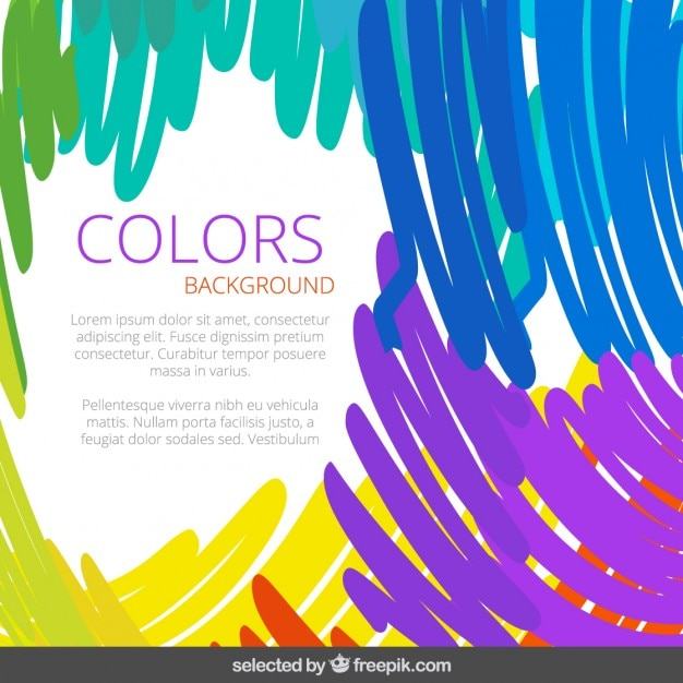Colors background Free Vector