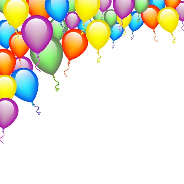 Colors balloons background Free Vector