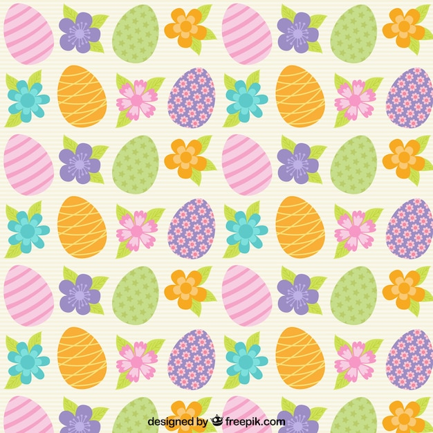 Colors Easter Eggs Pattern Vector