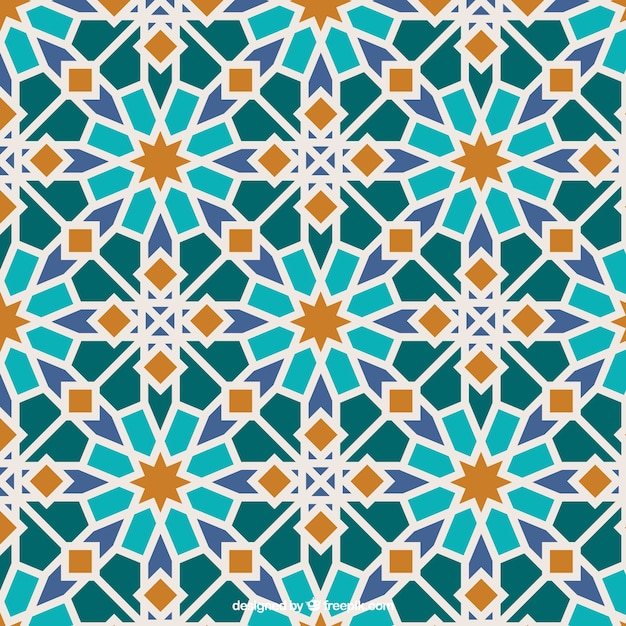 Colors Islamic Mosaic Premium Vector