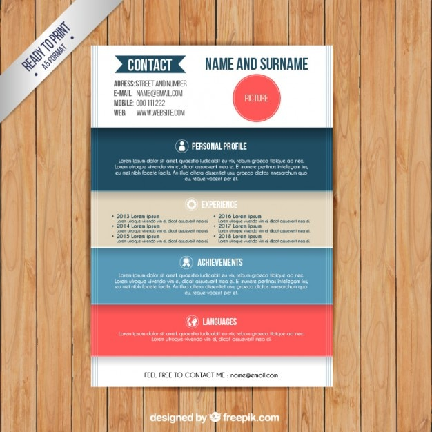 Nice Colorful ... Within Colorful Resume Templates