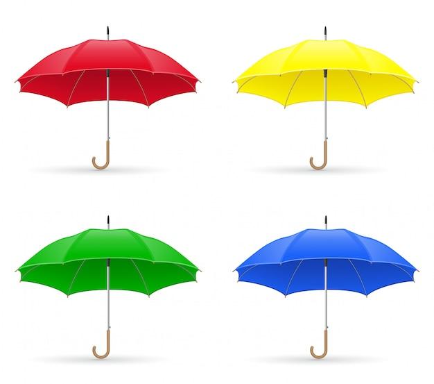 Colors umbrellas vector illustration Premium Vector