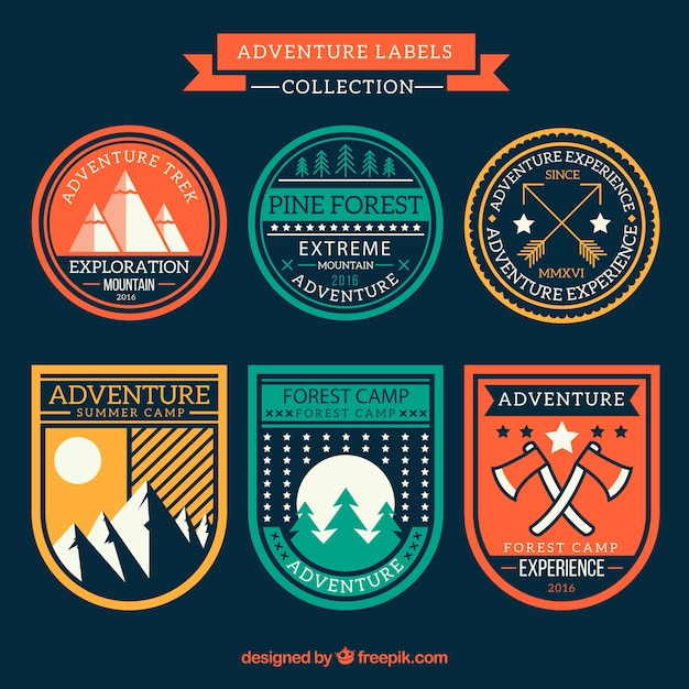 Colors vintage adventure stickers