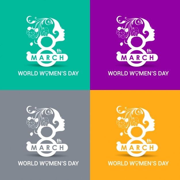 Colori carte giornata mondiale della donna Vettore gratuito