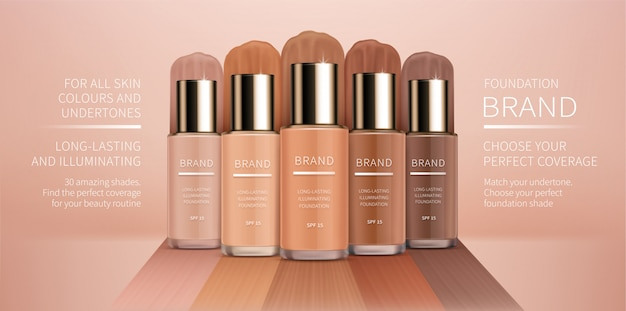 Colorstay foundation of various shades Free Vector