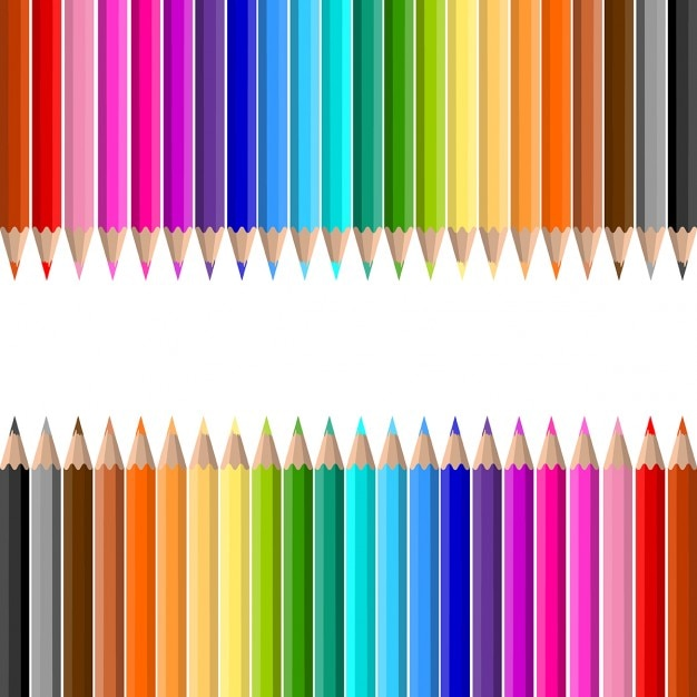 coloured pencil vectors, photos and psd files | free download, Powerpoint templates