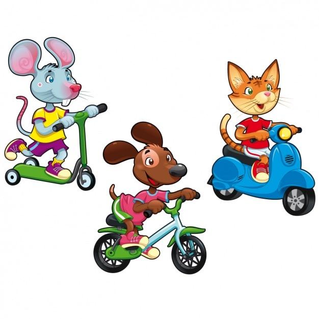 Coloured animals set