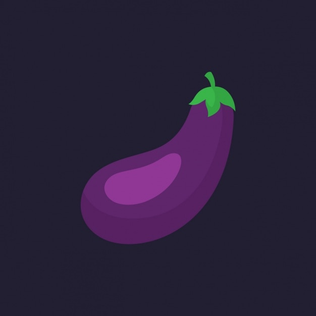 Coloured aubergine design Free Vector