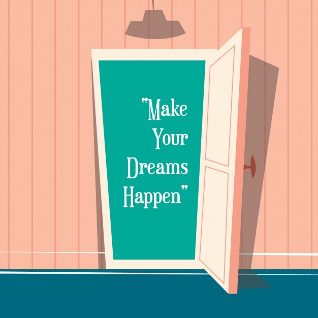 Coloured background with a quote Free Vector