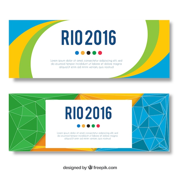 Coloured Banners Design Vector Free Download