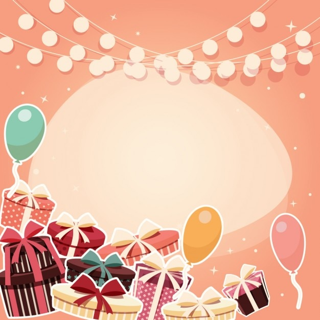 Coloured birthday background design