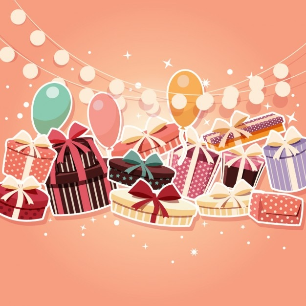 Coloured birthday background Vector | Free Download