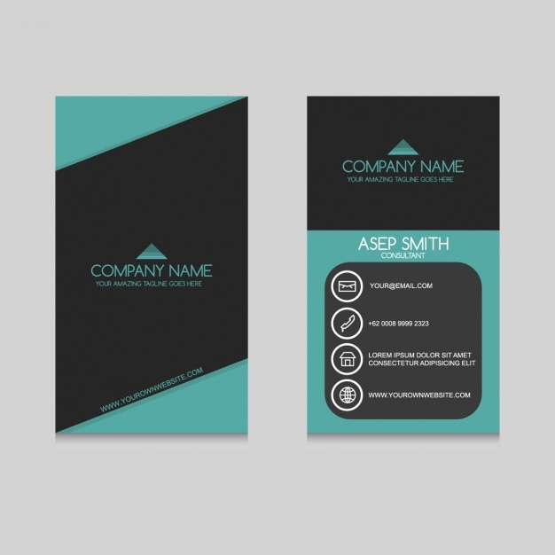 Coloured business card design Free Vector