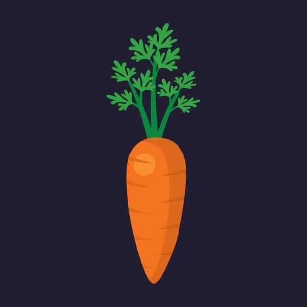Цветное дизайн морковь Бесплатные векторы