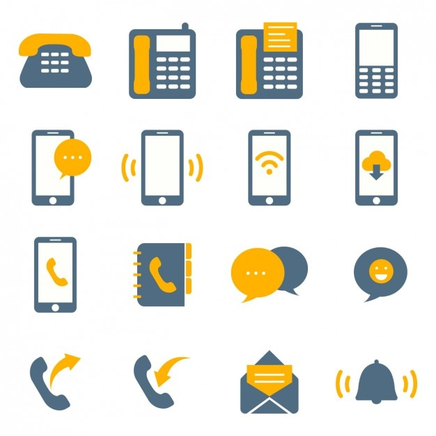 Coloured connectivity icons Free Vector