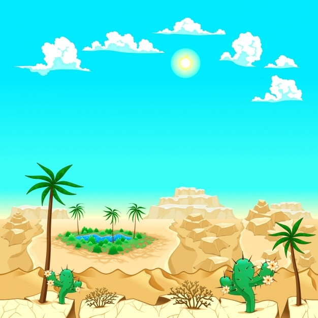 Coloured desert background
