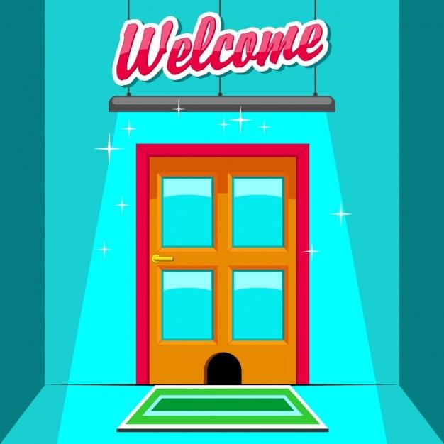 Coloured door background Free Vector  sc 1 st  Freepik & Coloured door background Vector | Free Download