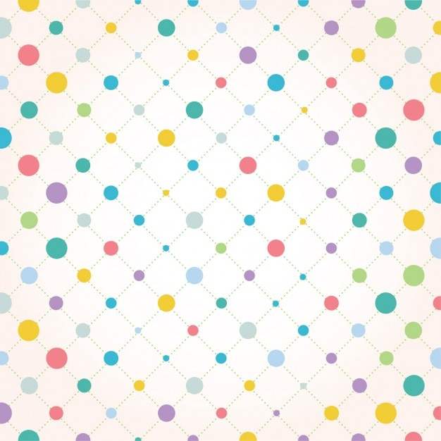 Coloured dots background design Free Vector