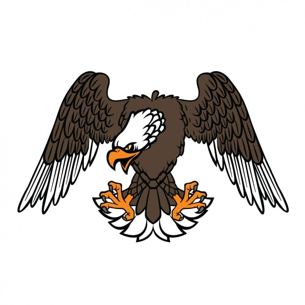 Coloured eagle design Free Vector