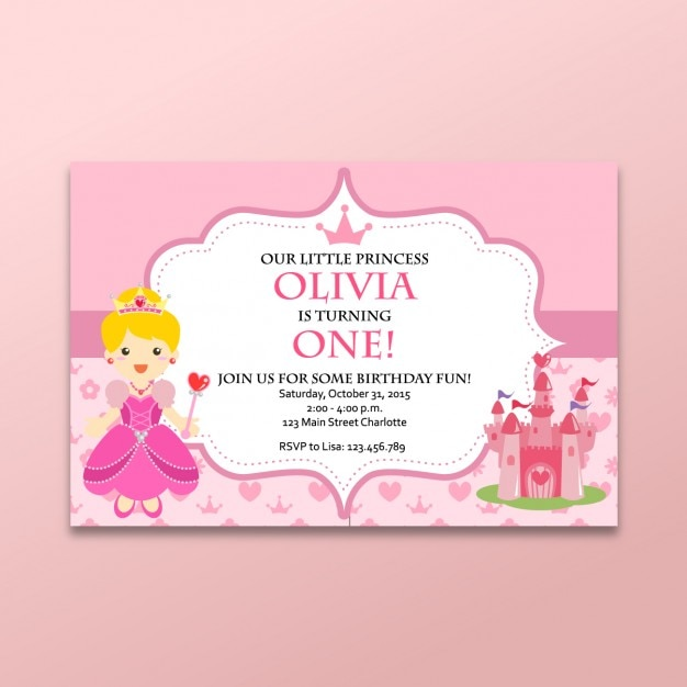 Coloured fairy tales card Free Vector