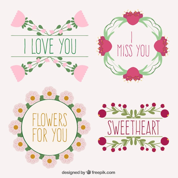 Coloured floral frames collection Vector | Free Download
