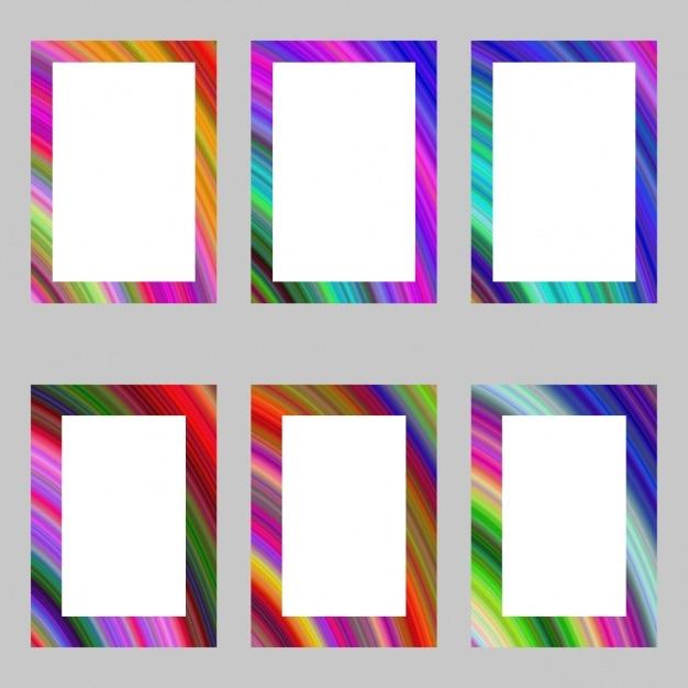 e4985b4cc5ea Coloured frames collection Free Vector