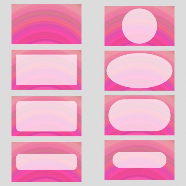 coloured frames collection vector free download