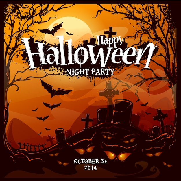 Coloured halloween background design Premium Vector