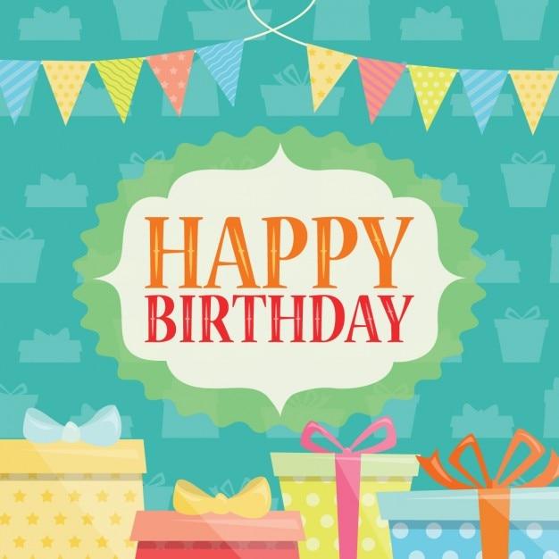 Coloured Happy Birthday Background Vector