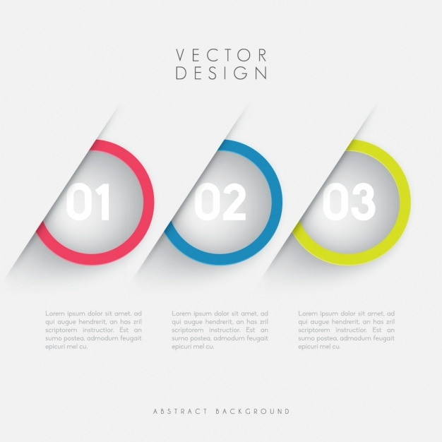 Coloured infographic template Free Vector