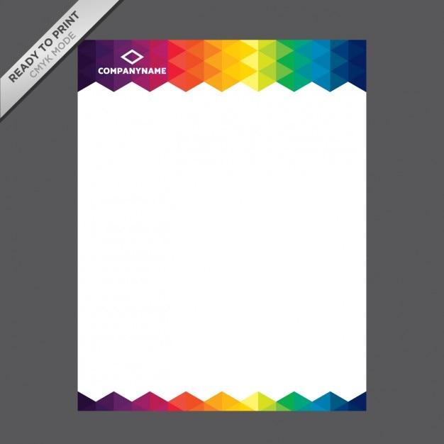 Coloured letterhead template vector free download coloured letterhead template free vector spiritdancerdesigns Choice Image
