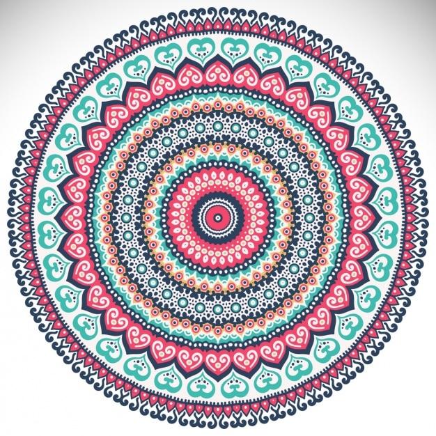Download Vector Coloured Mandala Design Vectorpicker - Mandalas-en-color