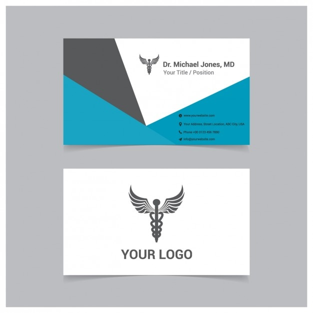 Coloured Medical Business Card Vector Free Download - Medical business cards templates free