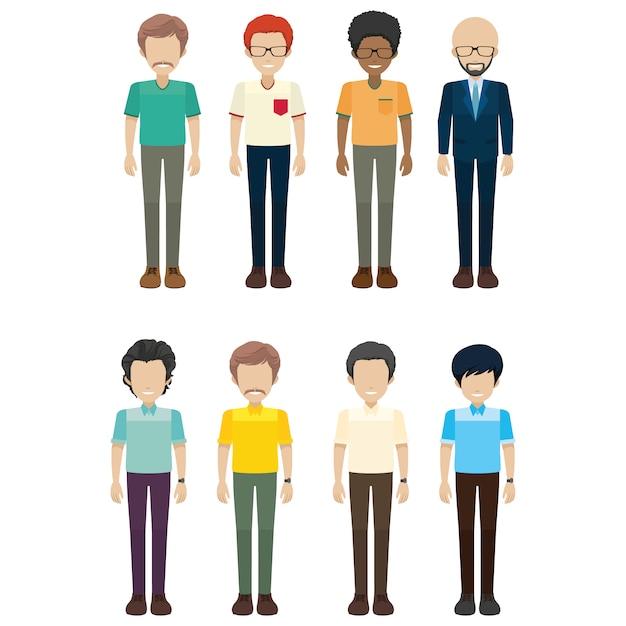 Coloured men collection
