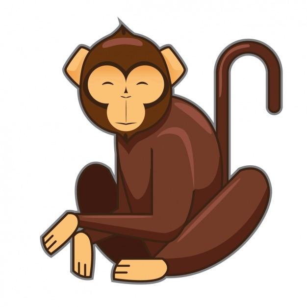 coloured monkey design vector free download rh freepik com monkey vector png monkey vector art