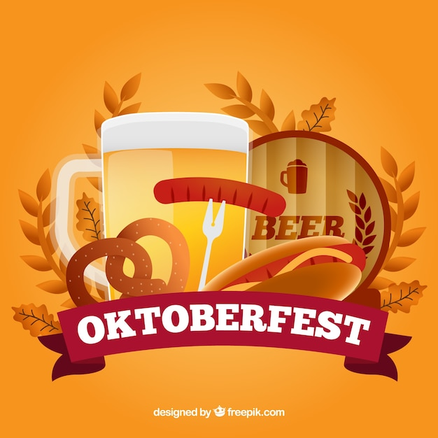 Coloured oktoberfest background Vector | Free Download