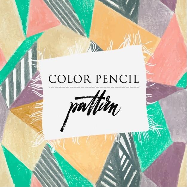 Coloured patternd design Free Vector