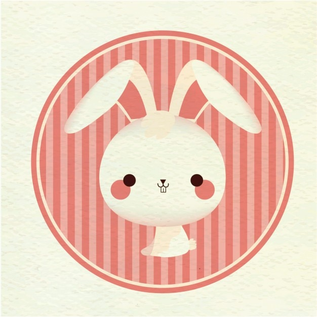 Coloured rabbit background Free Vector