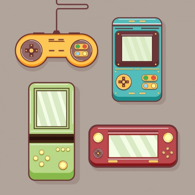 Coloured retro video games Vector | Free Download