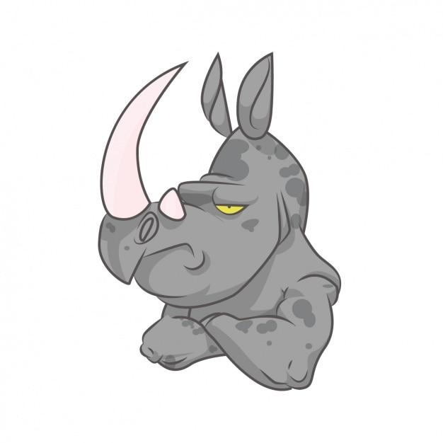 Coloured rhino design Free Vector