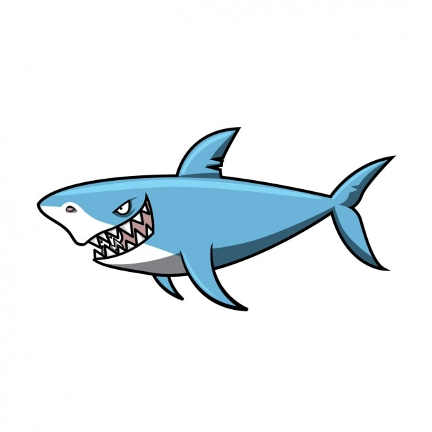 着色サメのデザイン 無料ベクター