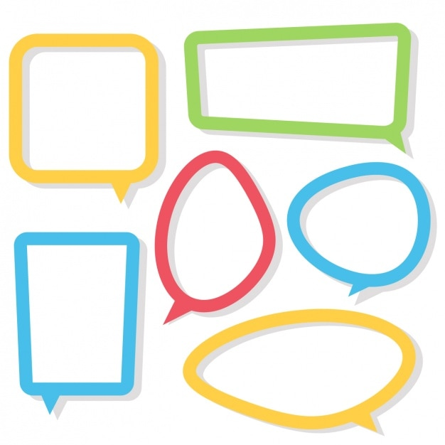 Coloured Speech Bubbles Collection Vector Free Download
