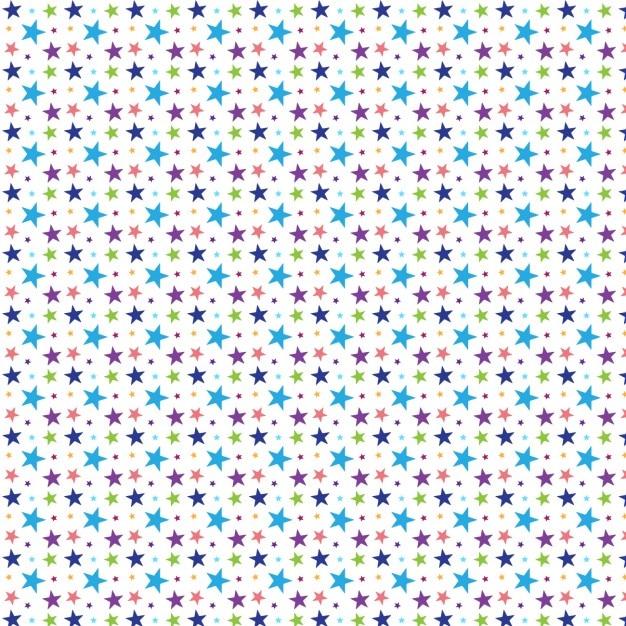 Coloured stars pattern design Free Vector