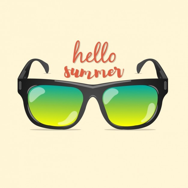 Coloured summer background Free Vector