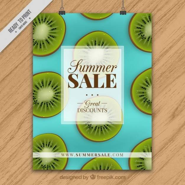 coloured summer sale brochure template vector free download