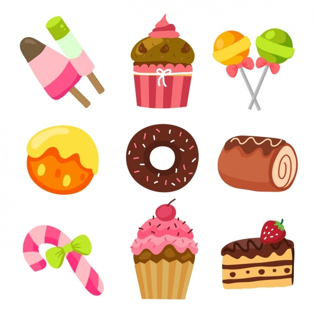 Coloured Sweets Collection Vector